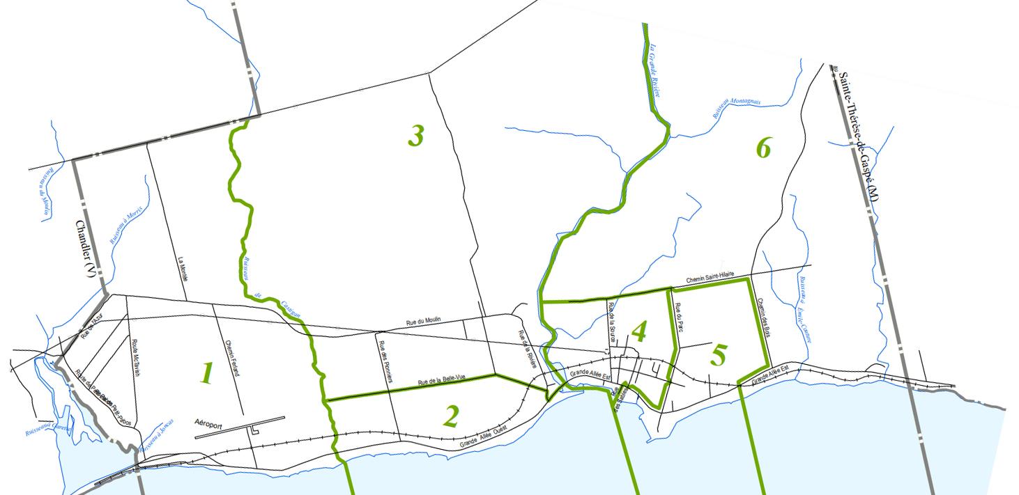 Carte des districts de Grande-Rivière