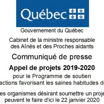 APPEL DE PROJETS 2019-2020