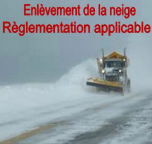 Enlèvement de la neige – Règlementation applicable