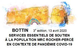 CORONAVIRUS – Bottin des services essentiels de soutien – MRC Rocher-Percé